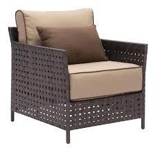 armchair modern pinery armchair set of 2 by zuo modern modern outdoor chair