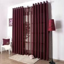 Sheer Maroon Curtains Burgundy Kitchen Curtains Bloomingcactus Me