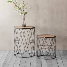 side tables modern chiltern set of 2 geometric side table modern coffee tables