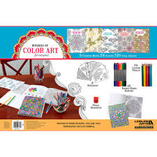 leisure arts wonders of color art for everyone coloring book kit