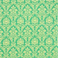michael miller ornament fabric dandy damask green lime ornament