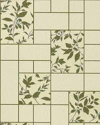 wallpaper kitchen bath wall covering vinyl modern tile floral