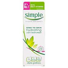 simple hydrating light moisturizer simple kind to skin hydrating light moisturiser 125 ml amazon co uk