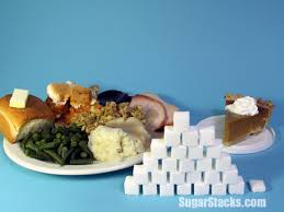how much sugar in a thanksgiving dinner