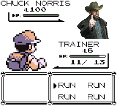 Chuck Norris Pokemon Memes - run away chuck norris appeared by sy24 on deviantart