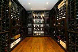 modern interior home wine room design ideas with u shaped