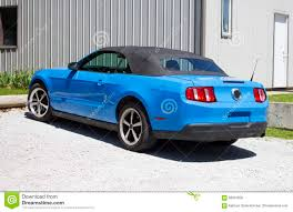 2014 blue mustang convertible 2014 mustang grabber blue convertible stock photo image 58991056