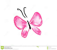 pink butterfly simple illustration royalty free stock image