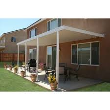 Home Depot Patio Covers Aluminum Metals Building Products 22 Ft X 10 Ft Aluminum Attached Solid