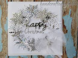 handcrafted by helen snowflake wreath card