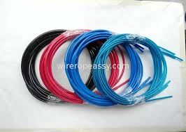colorful wire assembly wire and fittings black red