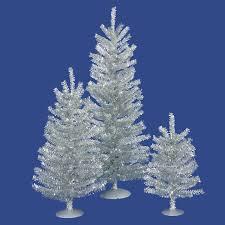 vickerman mini décor silver mini tree set wayfair
