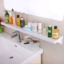 Bathroom Suction Shelves Quality Suction Cup Abs Plastic White Bathroom Wall Shelf