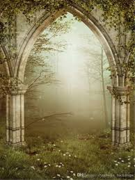 portrait backdrops 2018 vintage arched door mysterious forest photography