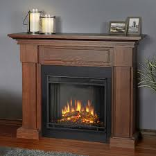 real flame hillcrest mantel electric fireplace oak finish
