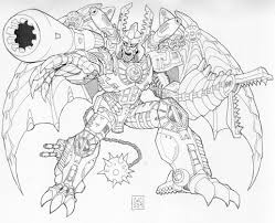 megatron coloring pages free large images