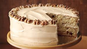 maple walnut cake with brown sugar frosting
