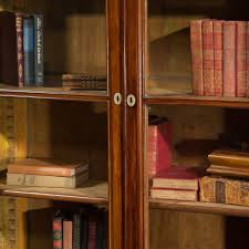 Shelves With Glass Doors by Antique Italian Walnut Bookcase With Glass Doors Circa 1850