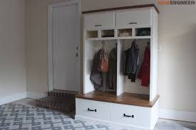 Free Entryway Storage Bench Plans by Mudroom Lockers With Bench Free Diy Plans