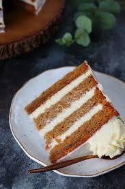 eggless cardamom carrot cake with orange blossom frosting k o rasoi