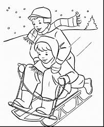 excellent kids winter coloring pages printable with winter