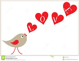Design For Valentines Card Valentine Bird And Hearts Background Stock Images Image 34768254