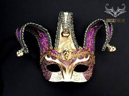 jester masquerade mask jolly jester masquerade mask purple gold half