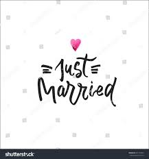 Just Married Cards Just Married Postcard Phrase Wedding Card Stock Vector 641793250