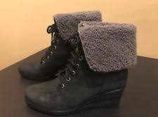 s ugg australia black zea boots ugg australia wedge lace up ankle boots for ebay