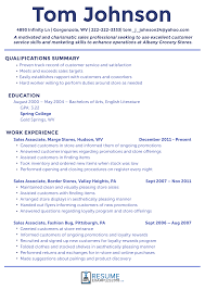 Resume Sles For Teachers Without Experience best sales resume exles for improved success sles customer