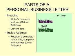 Business Letter Return Address business letters power point presentation 1205268709446738 3