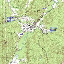 Adirondack Mountains Map Interstate 87 The Adirondack Northway Elizabethtown Topographic Map