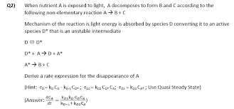 is light a form of energy solved when nutrient a is exposed to light a decomposes