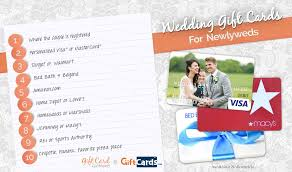 gift card registry wedding top 10 wedding gift cards to buy for newlyweds gcg