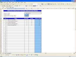 gpa calculator excel templates