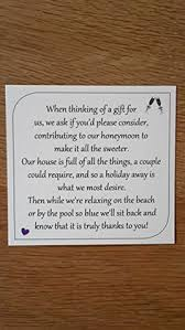 wedding gift honeymoon 25 50 wedding gift money poem small cards asking for money