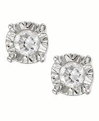 stud ear diamond stud earrings in 10k gold white gold or gold 1 4 ct