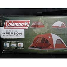 family camping tents coleman 4 person evanston tent with screened