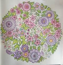 Coloriage 3  Jardin Secret  Mandala fleurs  Dans la bulle de julie