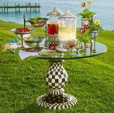 mackenzie childs vase mackenzie childs pedestal table base in courtly check