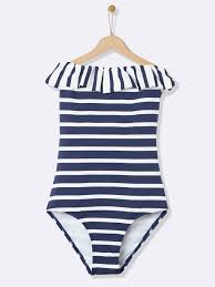 nautical style 1 piece swimsuit women