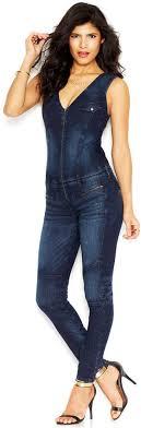 guess jumpsuits guess sleeveless denim jumpsuit cher got