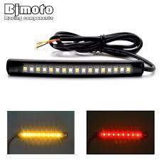 led light strip turn signal 12v universal motorcycle car tail brake stop turn signal integrated