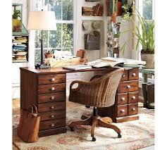 Desk And Filing Cabinet Set Printer U0027s Rectangular Desk Set Pottery Barn
