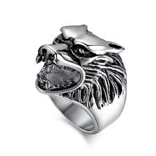 cool men rings images 2018 fashion wolf rings men ring stainless steel punk cool jewelry jpg