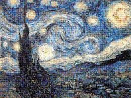 amazon com buffalo games photomosaic starry night toys u0026 games