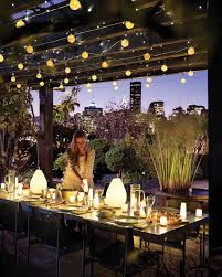 Outdoor Candle Lighting by Outdoor Lighting Ideas Martha Stewart
