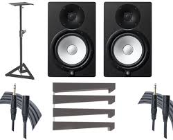 Desk Studio Monitor Stands by Amazon Com Yamaha Hs8 Studio Monitor Pair Stands Auralex