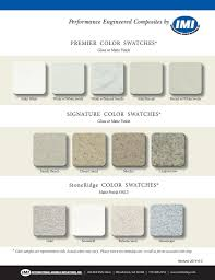 color swatches choices for imi products
