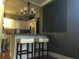 accent wall in grey hearth by glidden my home designs